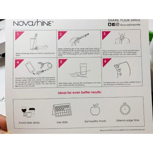 Novashine冷光牙齿美白仪|使用心得效果