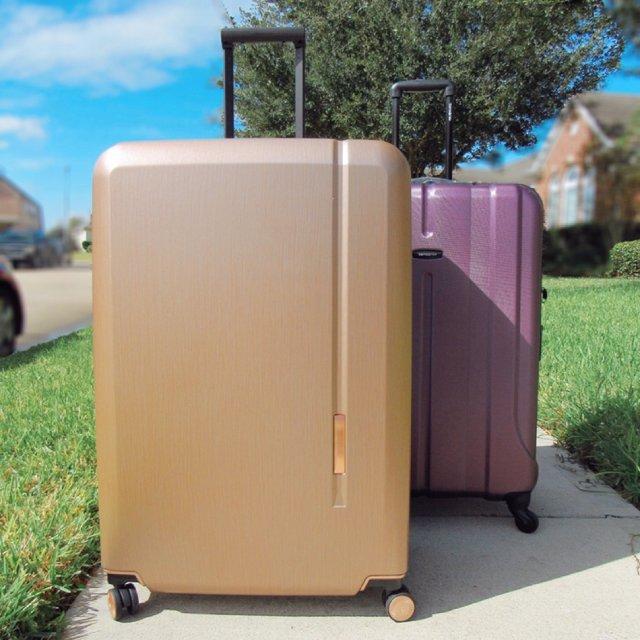 不止是颜值   新秀丽玫瑰金30寸行李箱