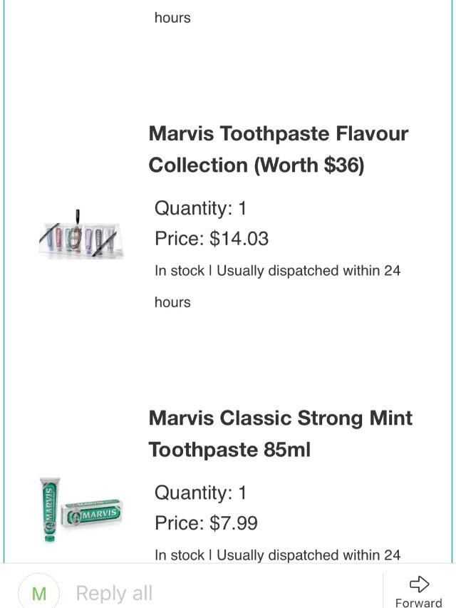 黑五神Deal系列——Marvis牙膏