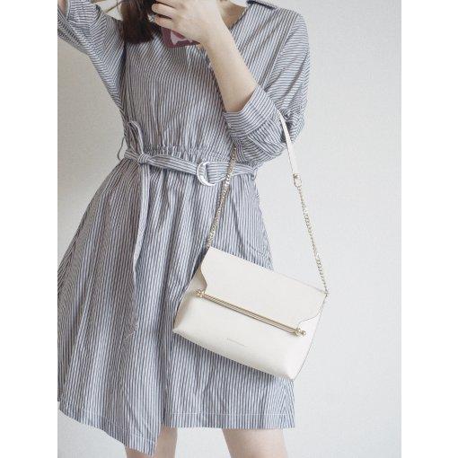 💼 通勤穿搭 | 条纹连衣裙