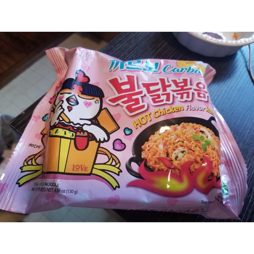 【新品尝试】火鸡面粉色袋子芝士味