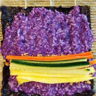 紫薯拌米饭
