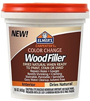 $6Elmer's E914 Carpenter's Color Change Wood Filler, 16-Ounce, Natural