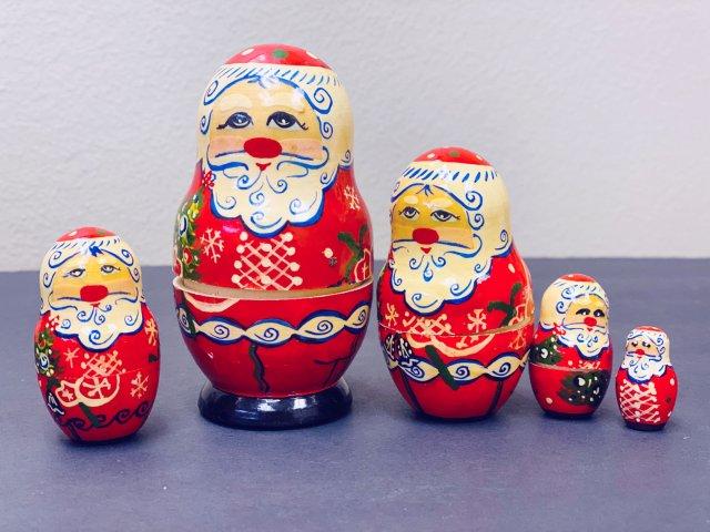 超可爱的俄罗斯圣诞🎅🏻套娃🎅🏻🎅🏻