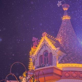 迪士尼城堡的圣诞节🎄...