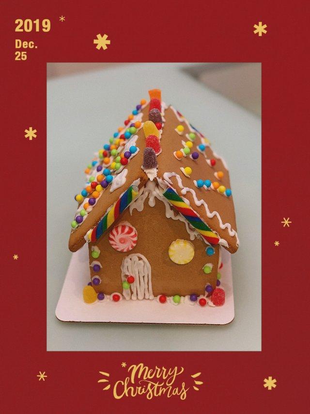🎄圣诞节的亲子活动--姜饼屋🏠
