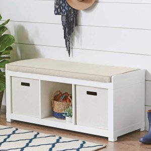 meyer cushion bench cubeicals closetmaid espresso perspective fred storage p front with cube