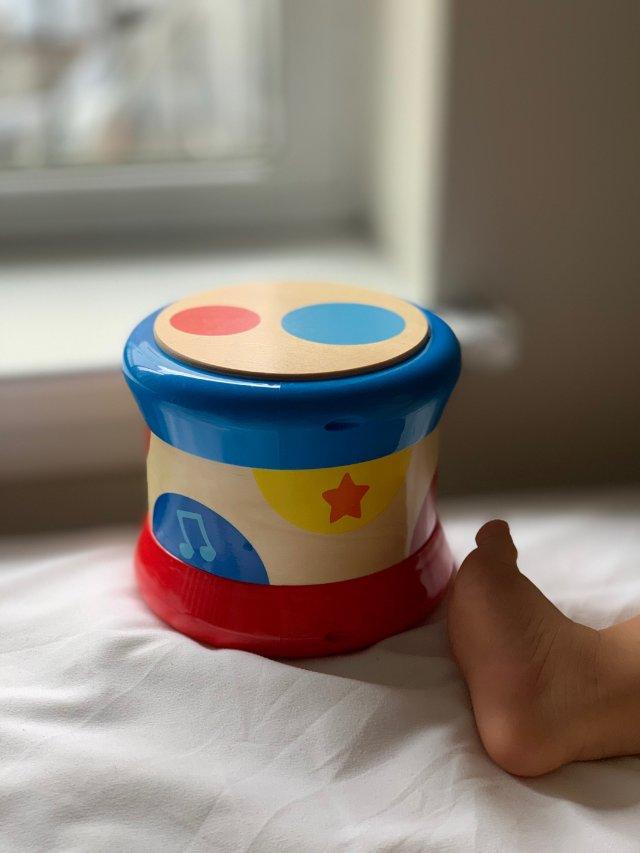宝宝的高颜值好质量小乐器Hape小鼓