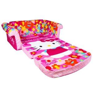 Hello Kitty 2 in 1 Flip Open Foam Toddler Sofa - Walmart.com