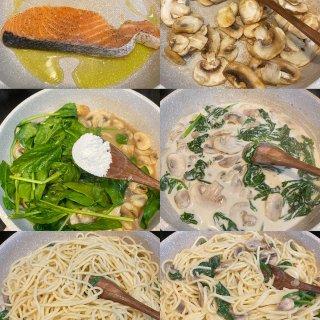 宅家做美食 |奶香浓郁的奶油蘑菇意面...