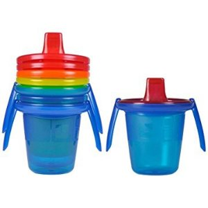 $2The First Years Take & Toss Spill-Proof Sippy Cups with Removable Handles, 7 Ounce, 4 Pack
