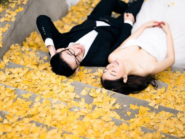 婚纱   在南京度过最美好的秋天