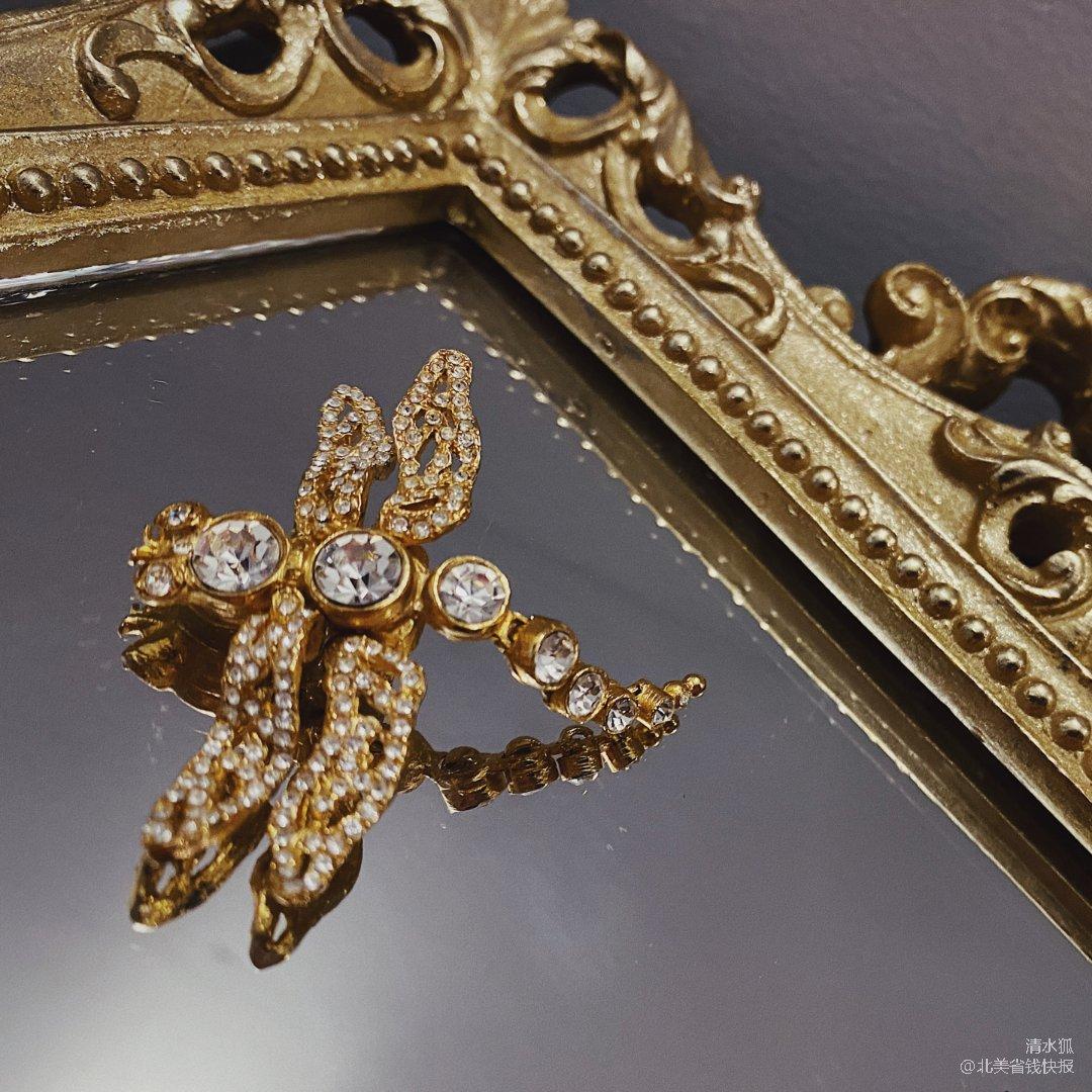 Dior中古蜻蜓胸针