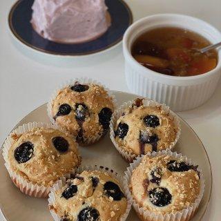爆浆蓝莓玛芬蛋糕🧁...