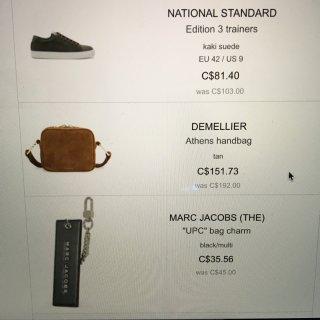 national standsrd,DeMellier,Marc Jacobs 莫杰