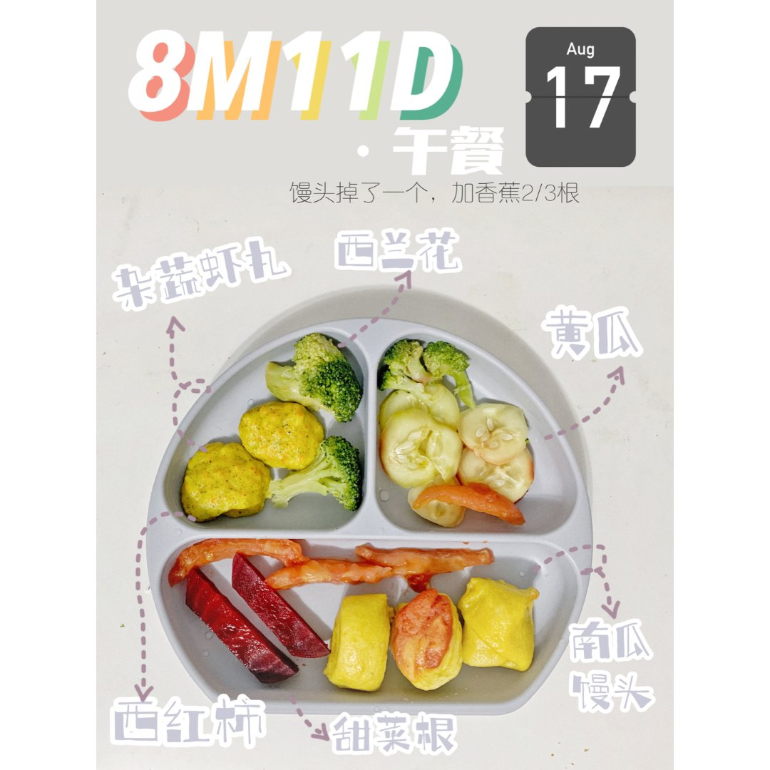 8M11D辅食 车祸现场甜菜根