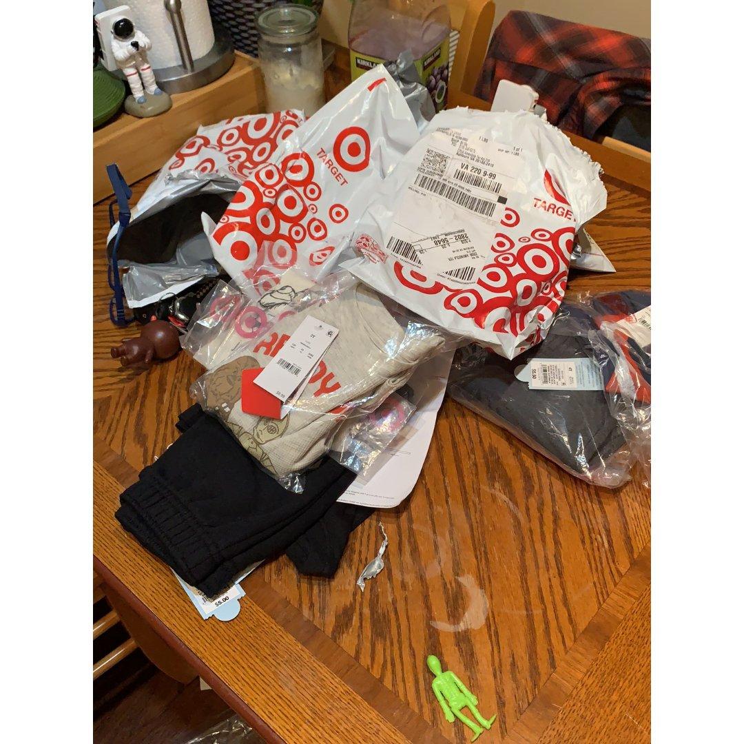 target活动买了一堆衣服