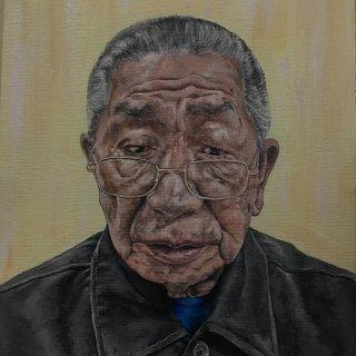 《我的外公》丙烯画手绘,终于完成。...