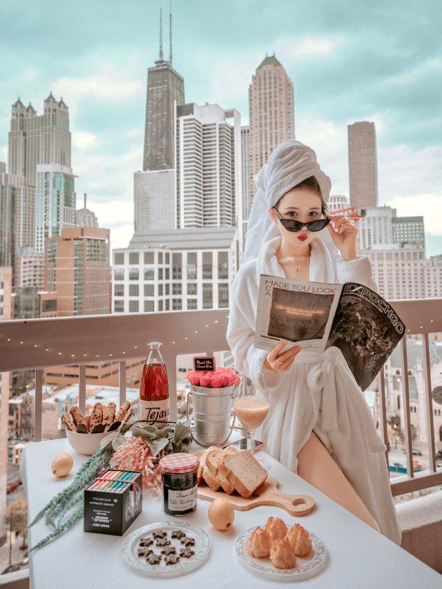 旅行|芝加哥首家高空露天下午茶开业啦😍