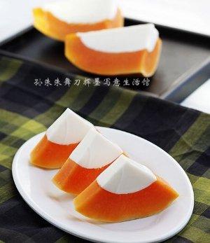 【木瓜椰奶冻的做法步骤图,木瓜椰奶冻怎么做好吃】孙朱朱_下厨房