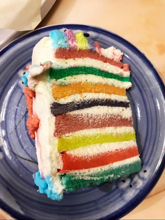 神仙颜值的彩虹生日蛋糕