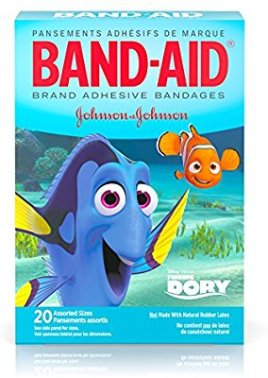 Amazon.com: Band-Aid Brand Adhesive Bandages Featuring Disney/Pixar Finding Dory, Assorted Sizes, 20 Count: Health & Personal Care