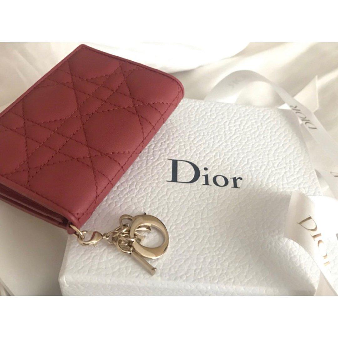 Dior卡包   一抹温柔豆沙红