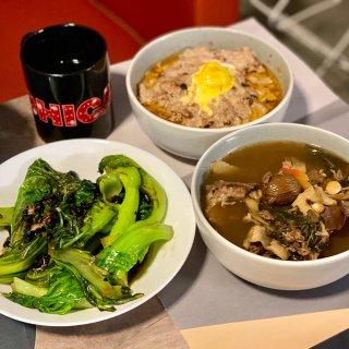 吃饭打卡|蒸肉饼➕豆豉青菜🥬...