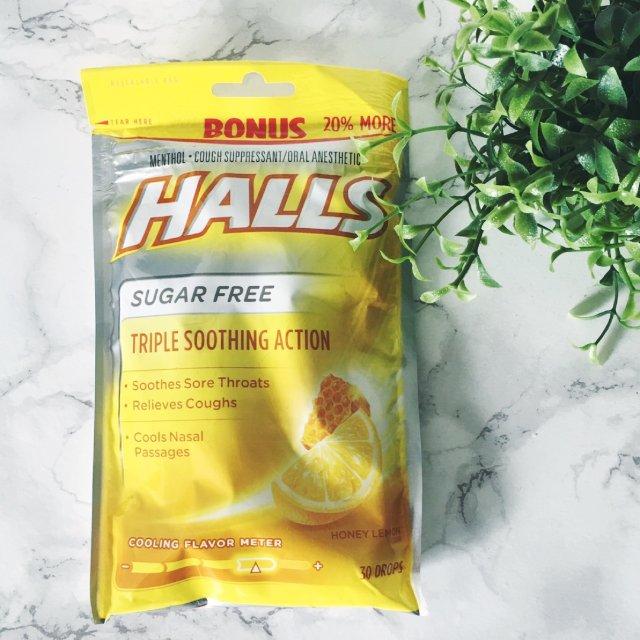 Halls sugar free ...