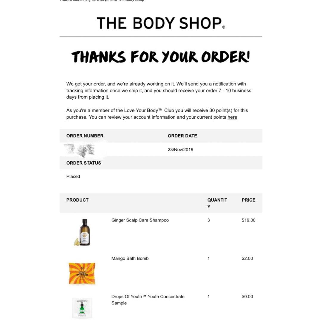 The body shop生姜洗发水6折