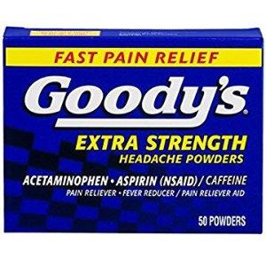 $5.57 包邮Goody's 强力头疼散 50包
