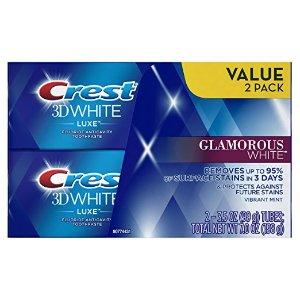 $4.97Crest 3D 超效美白薄荷牙膏 3.5oz 2支装