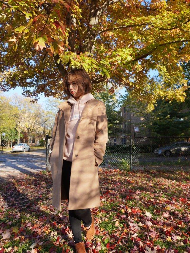 【OOTD】秋日就是hoodie➕风衣
