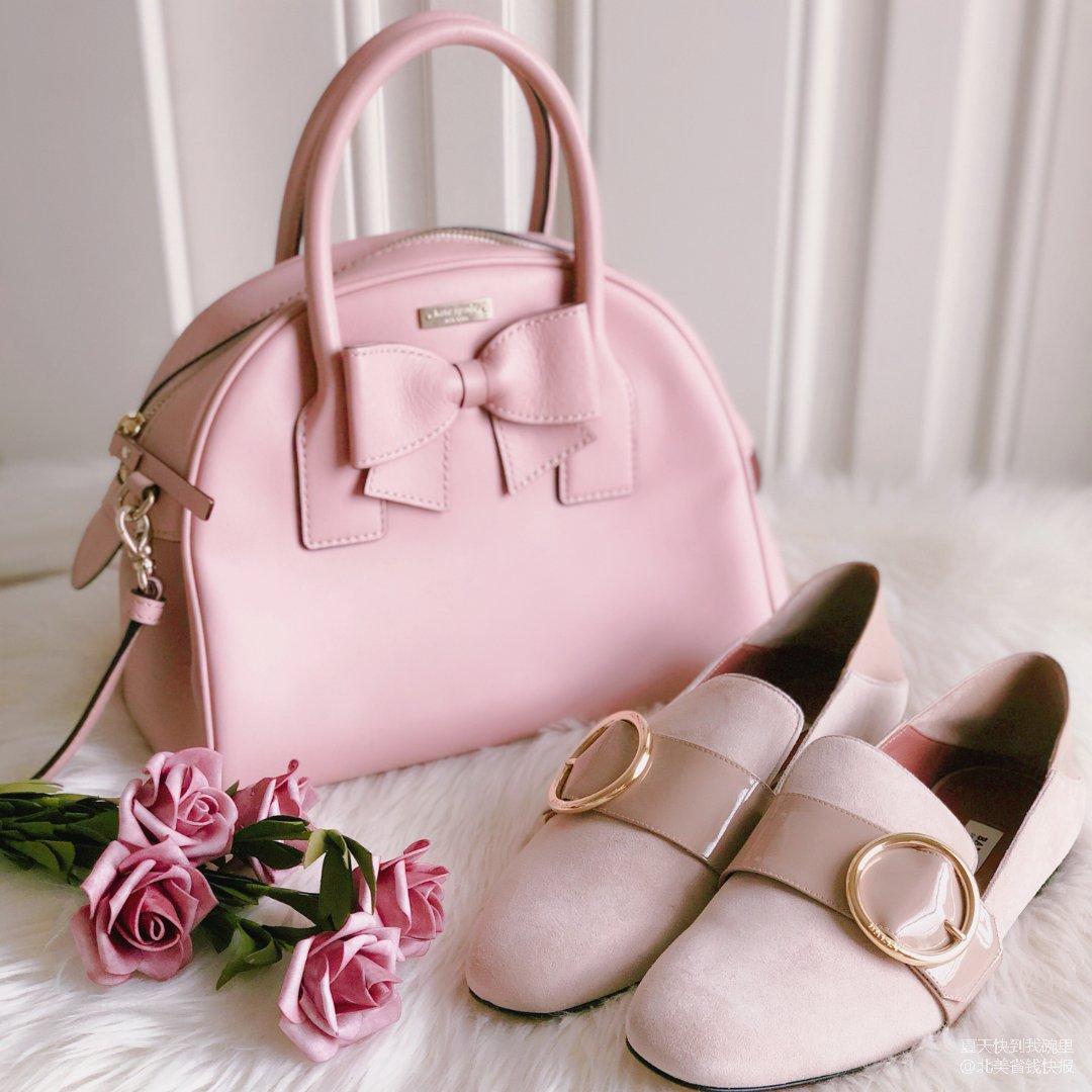 4⃣️ 包包鞋子一个色:粉红色(上)🌸