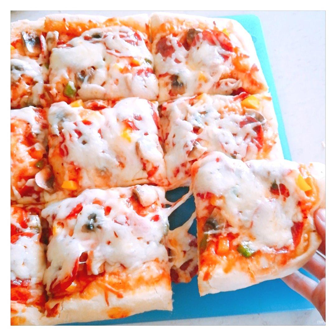 宅家自制手工披萨🍕,好吃拉丝不输外卖😋