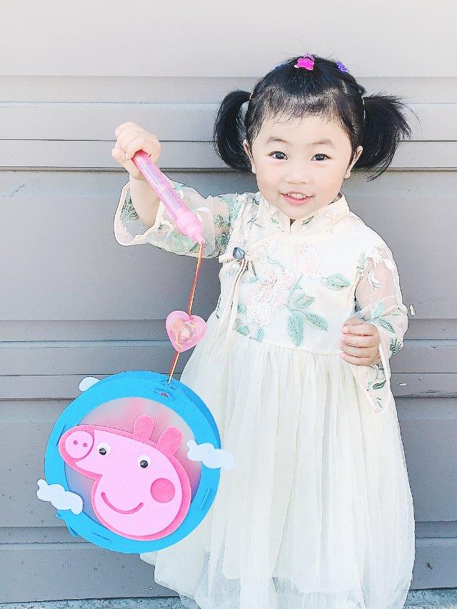 中秋节晒娃 & peppa pig...