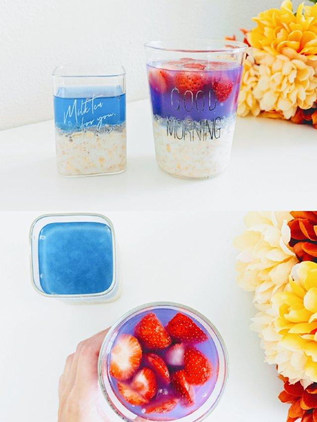 #周末心情的早餐配色| 蓝色、紫色...