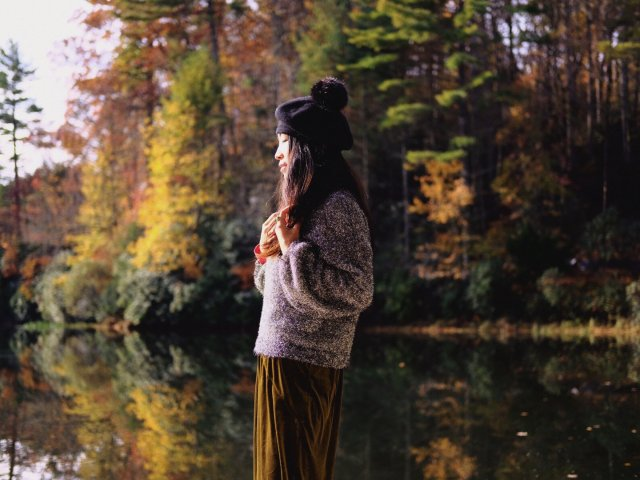油画般的湖光山色