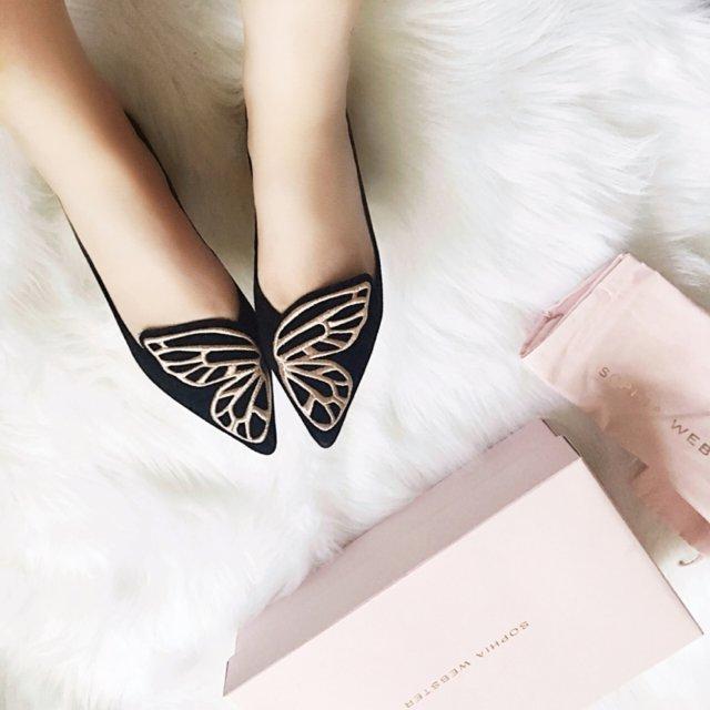 终于入手了心心念念的蝴蝶鞋Soph...