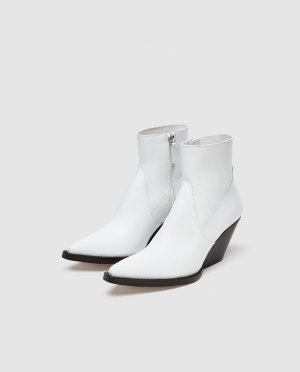 LEATHER COWBOY ANKLE BOOTS-Boots & Ankle Boots-SHOES-SALE-WOMAN   ZARA United States