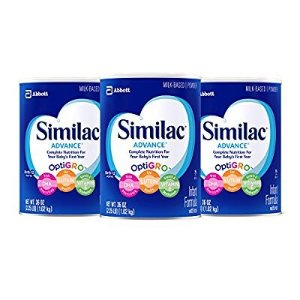 $58Similac Advance Infant Formula with Iron, Powder, One Month Supply, 36 Ounce (Pack of 3)
