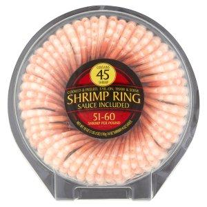 Cooked & Peeled Shrimp Ring, 45ct - Walmart.com