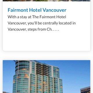温哥华酒店大促,最低114元住费尔蒙...
