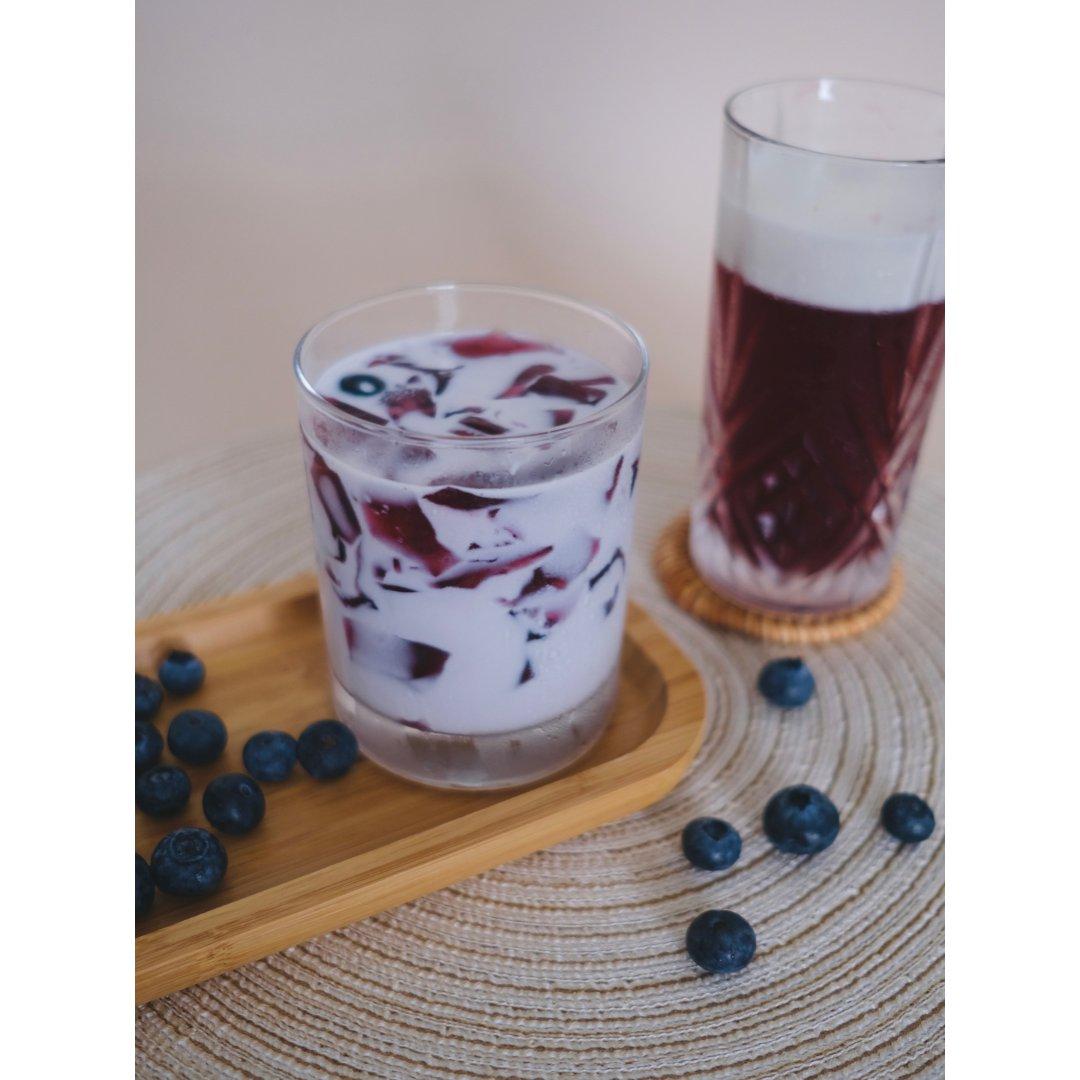 冰粉的N种吃法|蓝莓冰粉