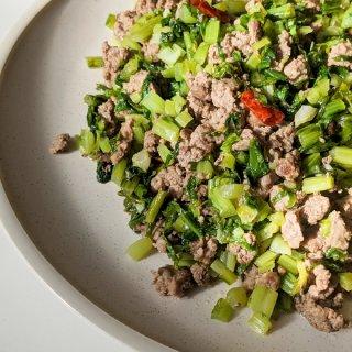 【周三食谱】10分钟午餐   雪里蕻炒肉...