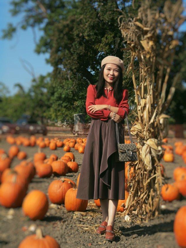穿搭 | 土橘色的南瓜少女