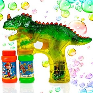 Amazon.com: Toysery Dinosaur Bubble Shooter Gun Light Up Bubbles Blower with LED Flashing Lights and Sounds Dinosaur Toys for Kids, Boys and Girls.: Toys & Games