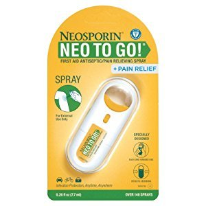Amazon.com: Neosporin + Pain Relief Neo To Go! First Aid Antiseptic/Pain Relieving Spray, .26 Oz: Health & Personal Care