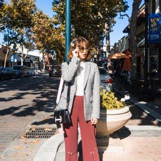 新一代显瘦神裤|Petite Studio珍珠扣直筒裤