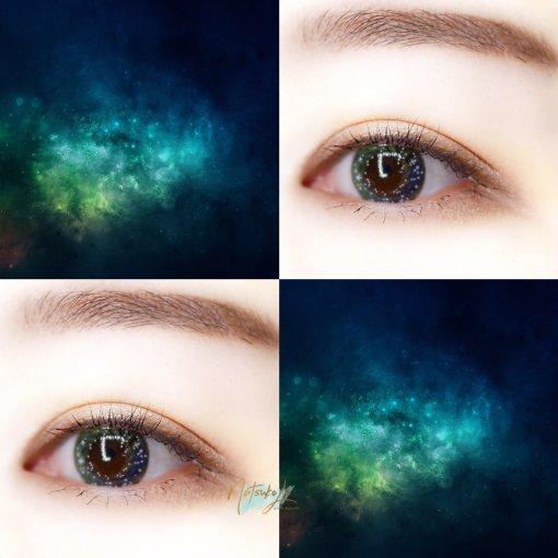 韩国美瞳 | 月抛 Lensme QLO7 星空灰